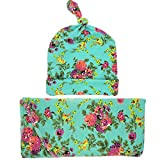 Zoylink Chapeau de Bébé Floral Mignon Doux Chapeau Infantile Bonnet Bébé avec Couverture pour Bébé Couverture de Réception