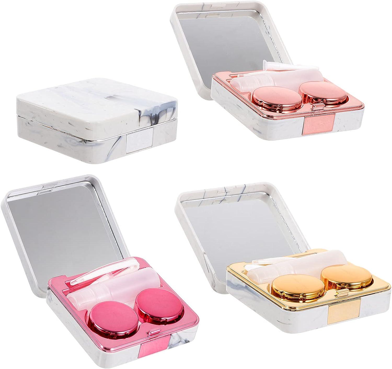 Healifty Portable Contact Box Lens Travel New arrival Soak OFFicial shop Case Storage Kit