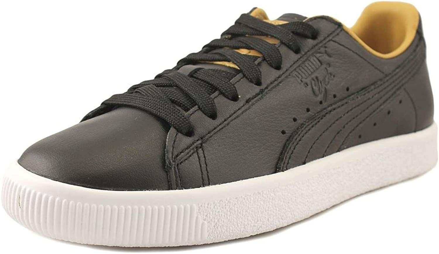 PUMA Womens Clyde Core Leather Leather Low Top Lace up Fashion Sneakers