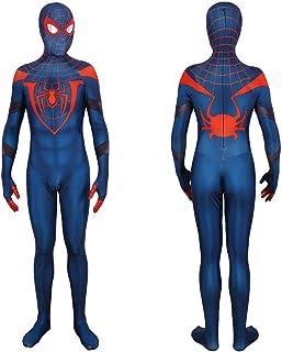 Sponsored Ad - 2020 Spider Man Miles Morales Cosplay Costume Halloween Spandex Zentai Blue Jumpsuit