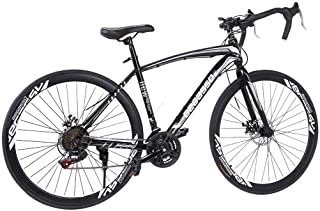 ?US Stock?-UROSA Lightweight Aluminum Road Bike - 21 Speed Disc Brakes Road Bicycles Begasso Simanos Aluminum Frame Full S...