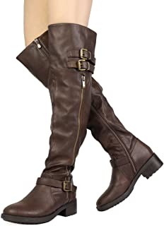 DREAM PAIRS Womens Knee High and up Riding Boots