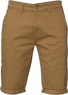 ENZO Mens Slim Fit Stretch Cotton Chino Summer Shorts Black Blue Red Grey, BNWT