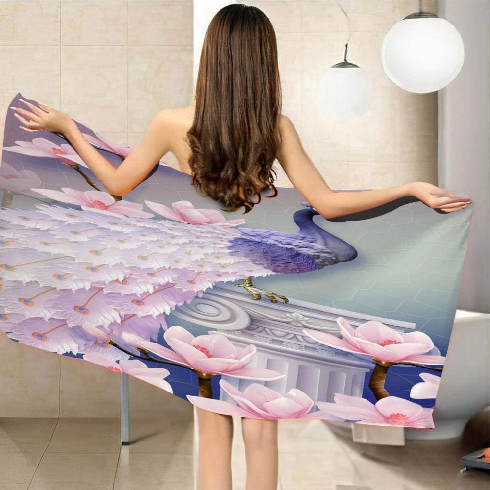 ZCLCHQ High Cheap mail order specialty store quality Quick Fast Dry Thin Sand Pink Su Towel Free Peacock Beach