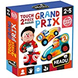 Headu 2 Pieces Touch Grand Prix. Puzzle Infantil Recomendado niñas de Entre 2 y 5 años. Monta tu Primera Carrera de Coches. (MU24902)