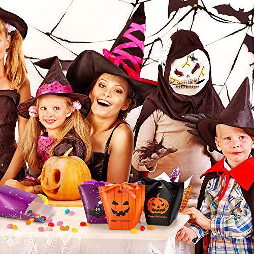 HOTSAN Sacchetti di Caramelle di Halloween Treat Bags-30PCS Paper Goodie Bags di Halloween Dolcetto o Scherzetto Sacchetti Regalo per Feste di Halloween per Decorazioni per Feste di Halloween