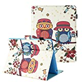 TKOOFN Case for iPad 2/3/4,Cartoon Print Folding Wallet Stand Case Cover with Auto Wake and Sleep [Card Slots Holder] for Apple iPad 2/3/4,Owl