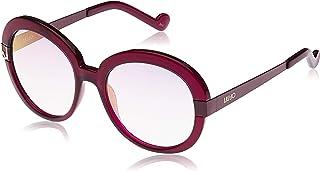 نظارة شمسية بلاستيكية مستديرة للنساء من ليو جو