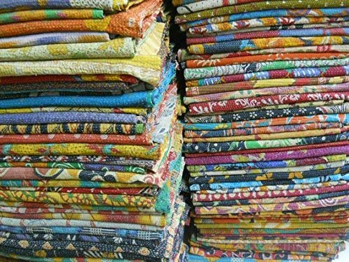 Vedant Designs 01 Pieces Vintage Blanket Wholesale Kantha Lot Indian Quilts Throw Hippie Bohemian Bedspread Old Saree Vintage Kantha