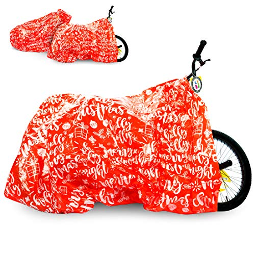 """Bike Gift Bag 2 Pack - Giant Christmas Gift Bags for Huge Gifts - 72""""x60"""" Bicycle Oversized Jumbo Extra Large Xmas Present Gift Bags Plastic Wrapping Sack - Heavy Duty Pack with Tags & String Ties"""