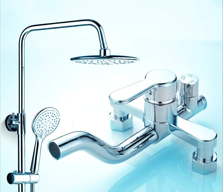 LHW Shower Set Che Set, Vollkupfer, überzug, Dusche, hei, hydrostatische Mischventil, Badezimmer Badezimmer, Hebewand, Badezimmer Dusche
