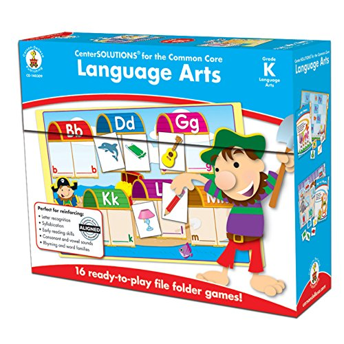 Carson-Dellosa CD-140309 Language Arts File Folder Game, Grade Kindergarten, 16 Games, 29 Sheets of Cards (Pack of 45)