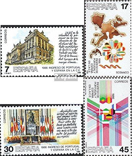 Prophila Collection Spagna Michel.-No..: 2709-2712 (Completa Edizione) 1986 Adesione a Comunità Europea (Francobolli per i Collezionisti)