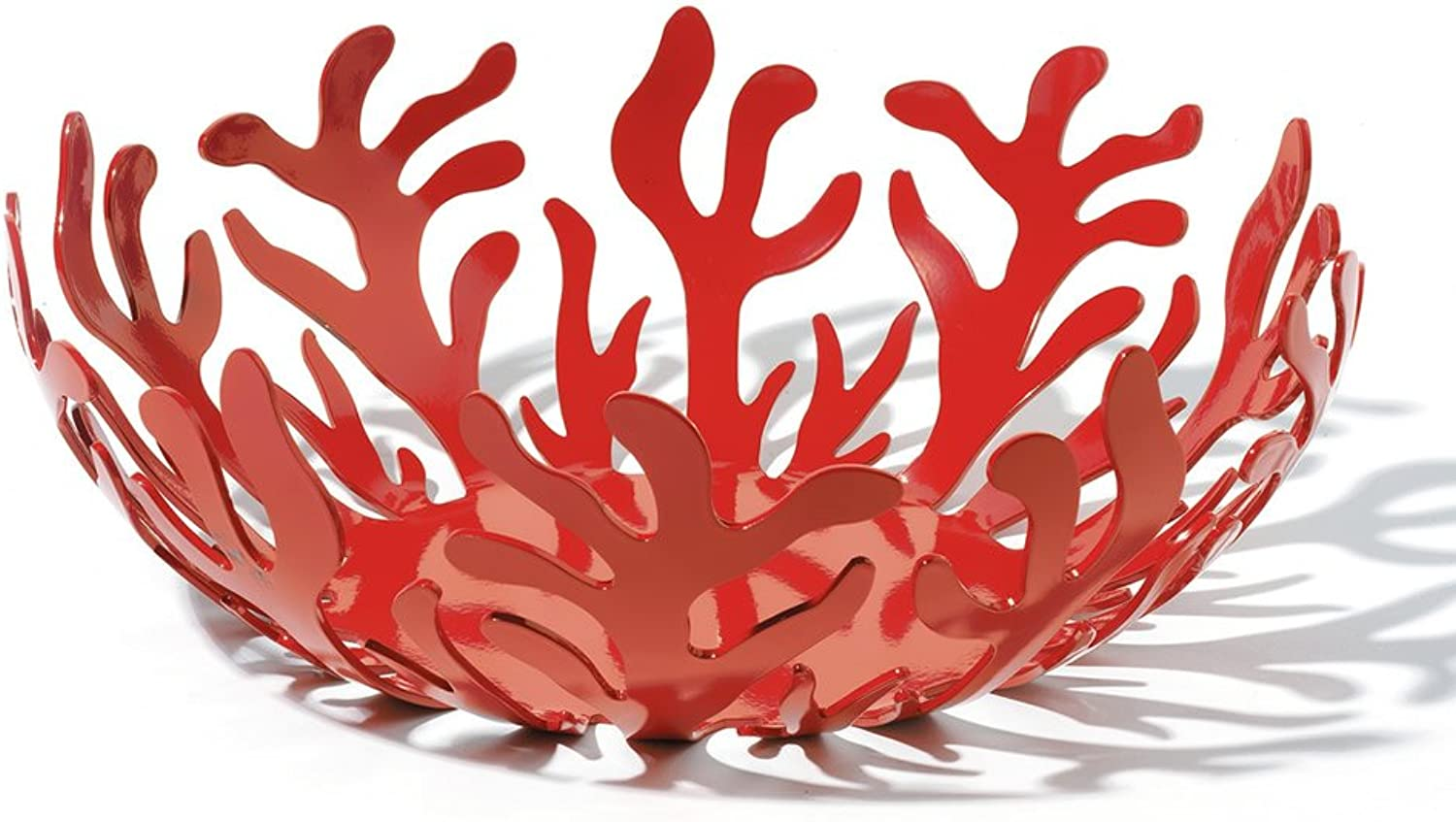 Alessi Mediterraneo  Fruit Bowl in Steel Coloured With Epoxy Resin, Red