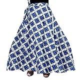 jwf Women Maxi Skirt (SSK_098_Multicolored_Free Size)