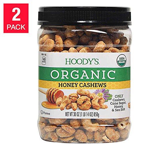 Hoody's Organic Honey Cashews 30 oz, 2-count