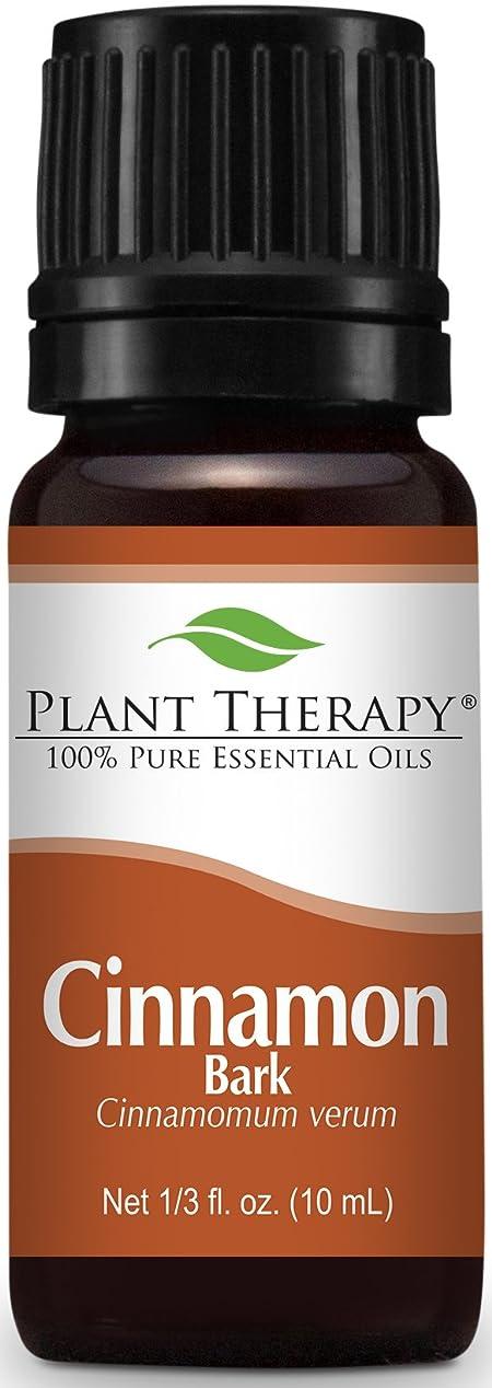 流行している丁寧広々Cinnamon Bark Essential Oil 10 ml (1/3 oz) 100% Pure, Undiluted, Therapeutic Grade by Plant Therapy Essential Oils