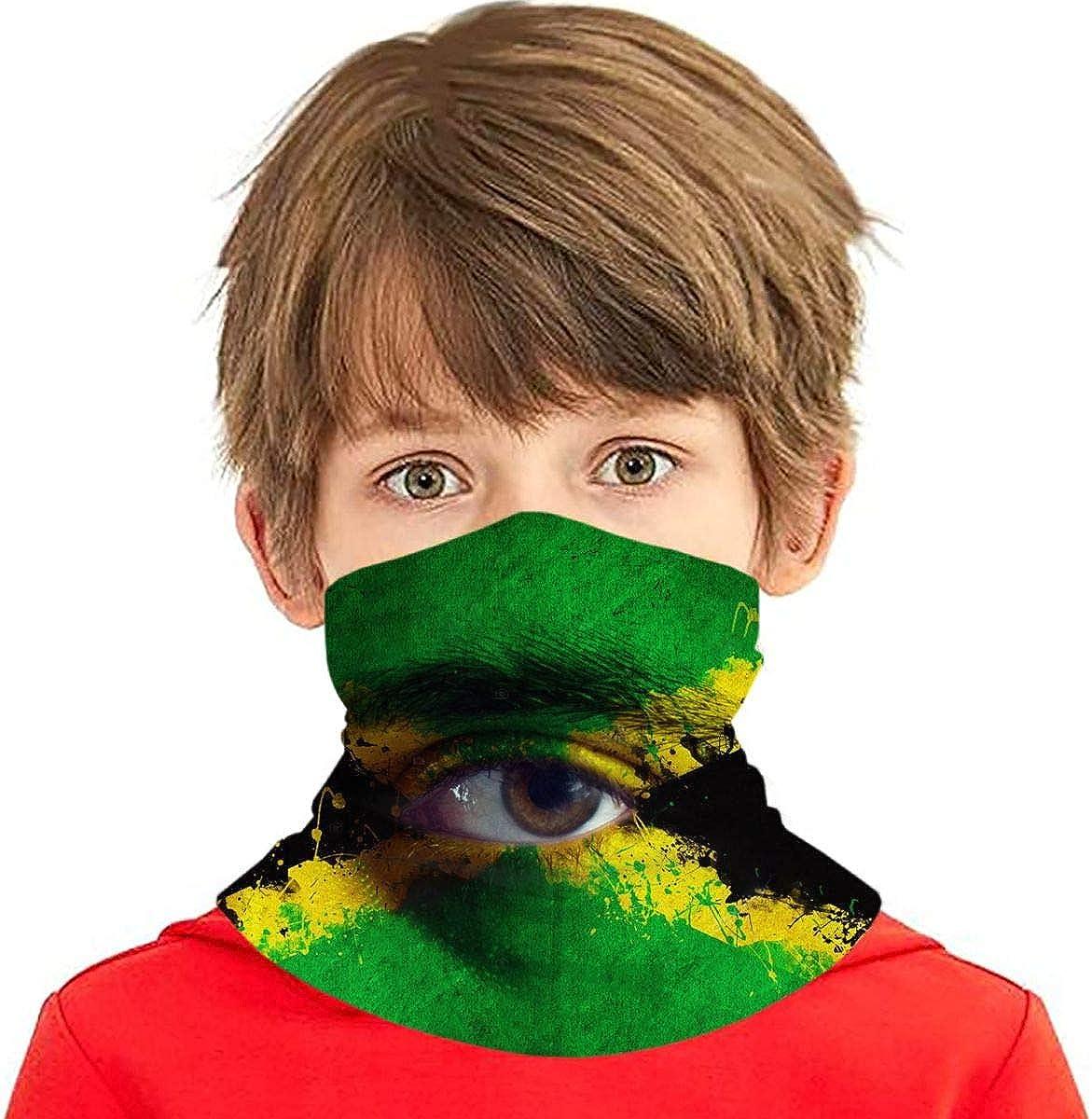 Dujiea Kids Bandanas Face Mask Jamaican Sun UV Protec Dust Flag High quality Sales results No. 1 new