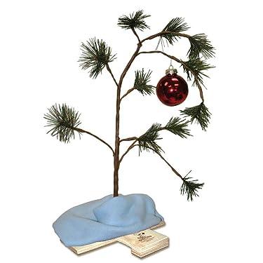 """ProductWorks árbol de Navidad Charlie Brown con chip musical y cacahuates con cobija Linus, 24"""", Multicolor"""