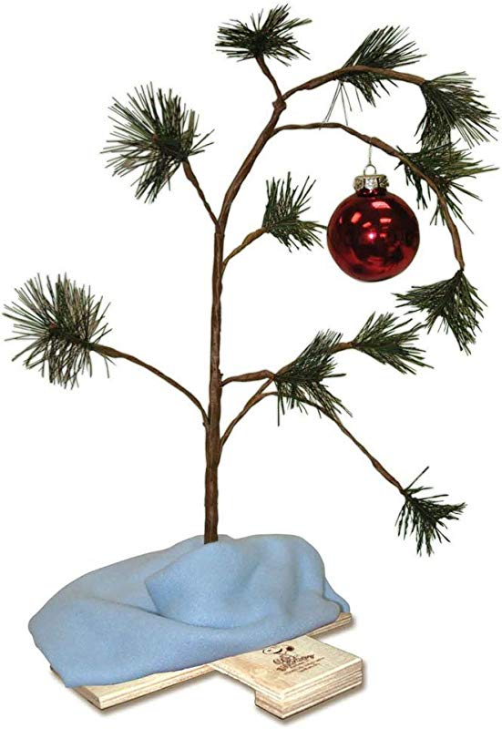 Product Works 24 Inch Charlie Brown Christmas Tree With Linus S Blanket Holiday D Cor Classic Ornament