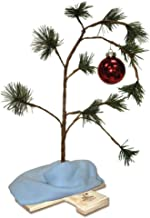 Product Works 24-Inch Charlie Brown Musical Christmas Tree with Linus's Blanket Holiday Décor, Classic Ornament