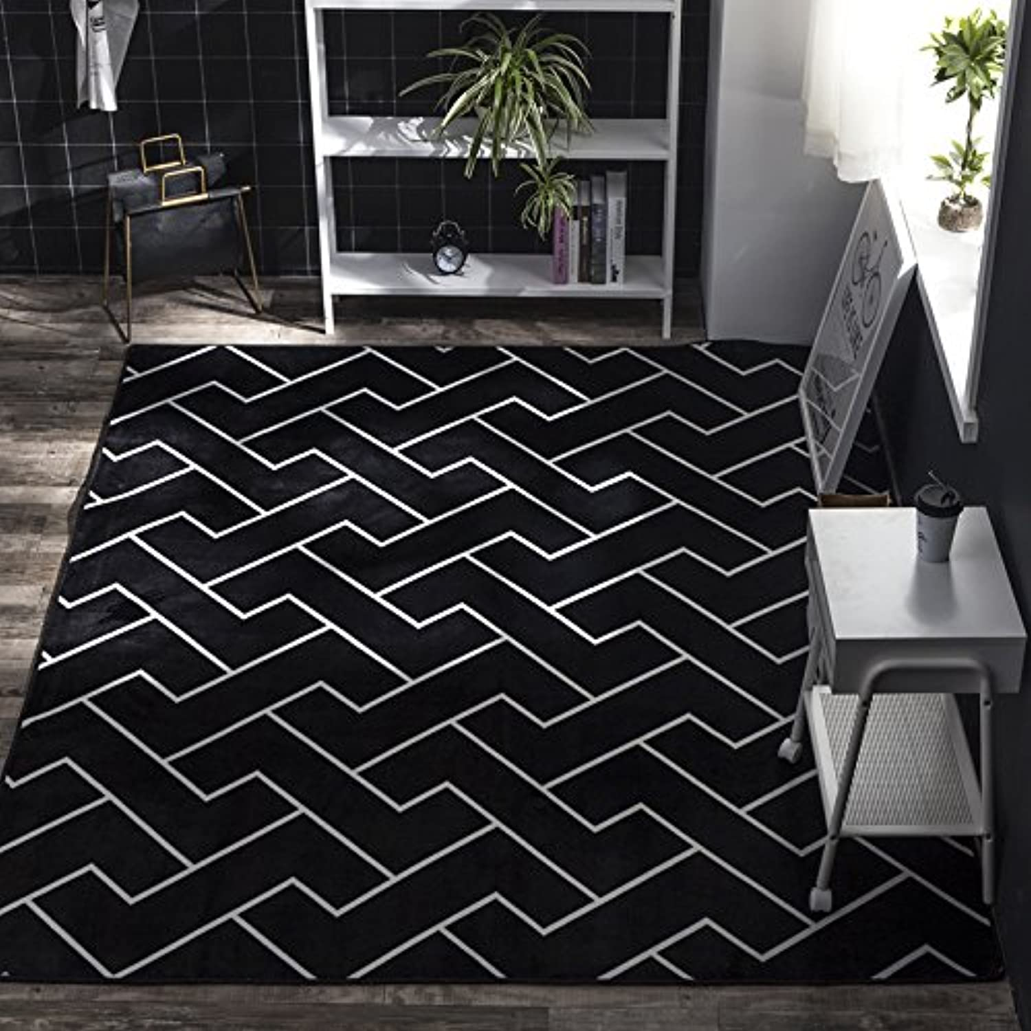 Simple thickening doormat, polyester interior bedroom home-K-190x195cm(75x77inch)