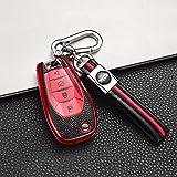 Autoschlüsselabdeckung , Schlüsseletui TPU und Leder Auto-Fernbedienung...