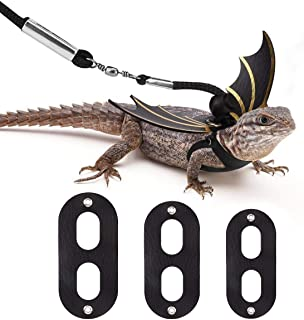 Vavopaw Lizard Reptiles Leash & Wings Set (S/M/L 3 Pack), Adjustable Bat Wing Shaped Harness Costume Kit for Lizards, Bearded Dragon, Iguanas, Reptile & Small Animals