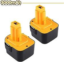 2X 3.0AH Ni-MH Reemplazo para Dewalt 12V Batería DC9071 DE9037 DE9071 DE9072 DE9074 DE9075 DE9501 DW9071 DW9072 152250-27 397745-01