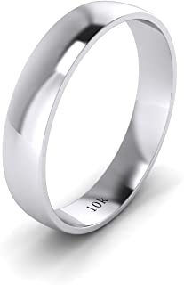 18ct white gold wedding band mens