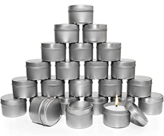 DELFINO Candle Tins, 5 Piece, Metal Candle Containers for Making Candles, Arts & Crafts, Dry Storage, Party Favors and Mor...