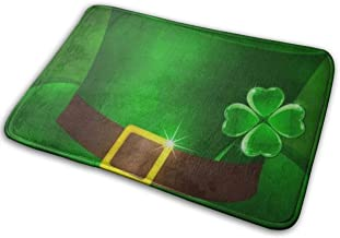 Decorative Doormat Home Decor Green Leprechauns Hat Welcome Indoor Outdoor Entrance Bathroom Floor Mats Non Slip Washable ...