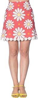 Banned Crazy Daisy Vintage Retro 60s Mini Skirt