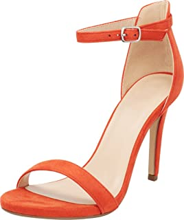 Cambridge Select Women's Open Toe Single Band Buckle Thin Ankle Strappy Stiletto High Heel Dress Sandal