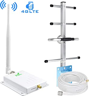 Cell Phone Signal Booster for Home and Office, Verizon Signal Booster 700MHz Band 13 Cellular Repeater Amplifier, Boost 4G LTE Data with High Gain Panel/Yagi Antennas Upto 2,000 Sq Ft