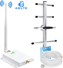Cell Phone Signal Booster 4G AT&T Signal Booster 700MHz Band 12/17 T-Mobile Cellular Signal Repeater Amplifier Home 4G LTE ATT Cell Signal Booster with Indoor Whip/Outdoor Yagi Antenna