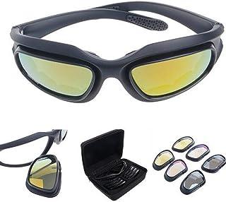 05cecf8a6f Polarizadas Lente Gafas Para El Sol de hípica con 4 lente de conducción  para Motocicleta Bicicleta