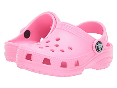 Crocs Kids Classic Clog (Toddler/Little Kid/Big Kid) (Pink Lemonade) Kids Shoes