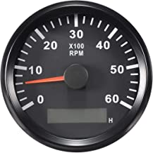 ELING Tachometer RPM Tacho Gauge with Hour Meter for Car Truck Boat Yacht 0-6000RPM 85mm with Backlight