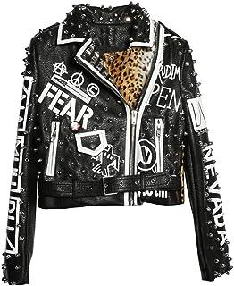 Amazon.it: giacca di pelle donna borchie: Abbigliamento