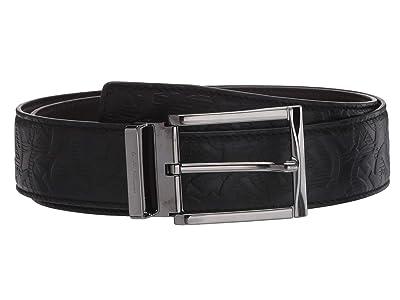 Salvatore Ferragamo Adjustable/Reversible Belt 679497 (Black/Hickory) Men