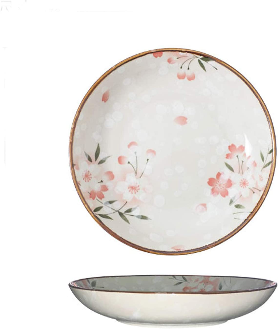 Dishes Dessert Plates Special price for a limited time 7Inch Ceramic Round Sakura Long-awaited Plate Shallow