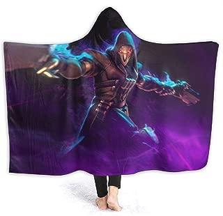 Overwatch Reaper Hooded Blanket Warm Fleece Blanket with Hood Throw Wearable Blanket Warm Cloak for Adult and Kids