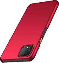 Google Pixel 4 XL Case, Arkour Minimalist Ultra Thin Slim Fit Smooth Matte Surface Hard PC Cover for Google Pixel 4XL (Smooth Red)