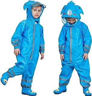 One Piece Rain Suit Kids,Unisex Toddler Waterproof Rainsuit Rain Coat Coverall