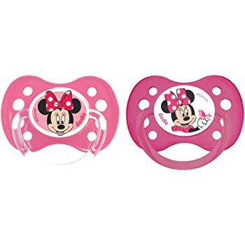 6 m tetina fisiol/ógica en blister dise/ño Minnie Mouse Chupete reversible silicona Stor ST-39905