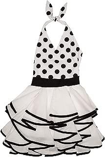 Girls Opposites Attract Polka Dot Ruffled Dress Black/White Size 16