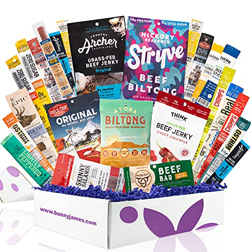 Ultimate Jerky Lover's Assortment Gift Box, Beef Jerky Gift Basket For Men - Variety Pack Of 25 Unique Premium Jerky Flavors, Great Sampler Or Gifts For Men Who Have Everything