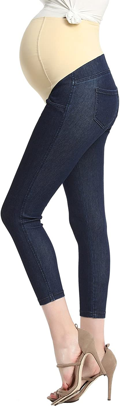 Momo Fashion Maternity Women's Stretchy Super popular specialty store Capri Ankle Slim Jegging Cropped