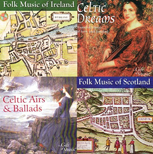 BEST MOM-MOTHER'S DAY GIFT - SET OF 4 CD'S CELTIC MUSIC AND FOLK MUSIC OF IRELAND AND SCOTLAND - FREE CD INCLUDED {jg} Great for mom, dad, sister, brother, grandparents, aunt, uncle, cousin, grandchildren, grandma, grandpa, wife, husband, relatives and friend.